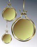 Oro della palla di Natale illustrazione di stock