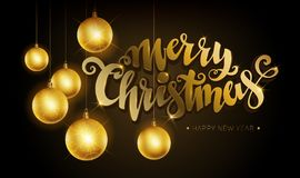 Oro di Buon Natale Fotografia Stock Libera da Diritti