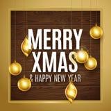 Oro di Buon Natale Fotografie Stock