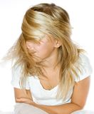 Oro di capelli Immagine Stock