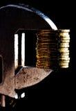 Oro di compressione Fotografie Stock Libere da Diritti