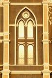 Oro di luce solare di sera della chiesa della finestra Immagine Stock Libera da Diritti