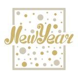 Oro di progettazione di lettera del nuovo anno che brilla Fotografie Stock Libere da Diritti