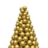 Oro di punta degli ornamenti di Natale Immagine Stock