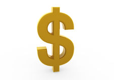 oro di simbolo del dollaro 3d Immagini Stock Libere da Diritti
