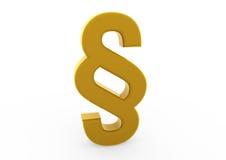 oro di simbolo di paragrafo 3d Immagine Stock Libera da Diritti