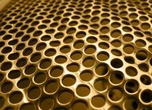 Oro di struttura del metallo Immagini Stock