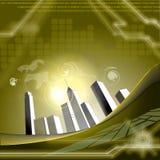 Oro di tecnologia Immagini Stock