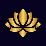 Oro di vettore di Lotus Immagini Stock Libere da Diritti
