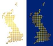 Oro Dot Great Britain Map ilustración del vector