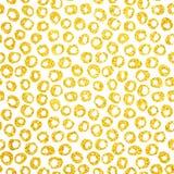 Oro Dots Seamless Pattern dibujado mano Imágenes de archivo libres de regalías