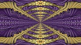 Oro e fondo astratto porpora per la progettazione dei tessuti, Fotografie Stock