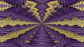 Oro e fondo astratto porpora per la progettazione dei tessuti, Immagine Stock Libera da Diritti