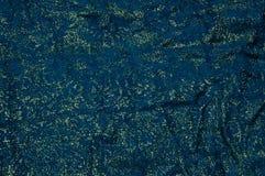 Oro e fondo blu del tessuto Immagini Stock Libere da Diritti