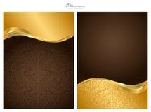 Oro e priorità bassa astratta di colore marrone Fotografia Stock Libera da Diritti