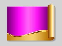 Oro e priorità bassa astratta di colore rosa Fotografia Stock
