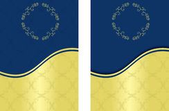 Oro e priorità bassa blu royalty illustrazione gratis