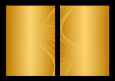 Oro e priorità bassa, parte anteriore e parte posteriore gialle Immagini Stock Libere da Diritti