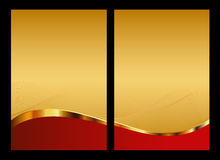 Oro e priorità bassa, parte anteriore e parte posteriore astratte rosse Fotografie Stock