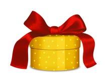 Oro e regalo rosso Fotografia Stock Libera da Diritti