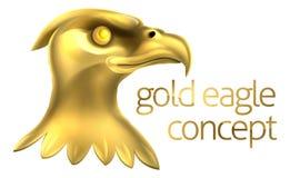Oro Eagle Head Concept Imagenes de archivo