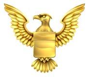 Oro Eagle Shield stock de ilustración