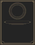 Oro elegante e progettazione decorativa nera Immagini Stock
