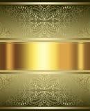 Oro elegante y fondo marrón Imagen de archivo libre de regalías
