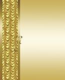 Oro elegante y fondo marrón Foto de archivo