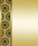 Oro elegante y fondo marrón Fotografía de archivo libre de regalías