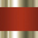 Oro elegante y fondo marrón Imagen de archivo