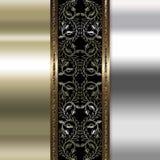 Oro elegante y fondo marrón Foto de archivo libre de regalías