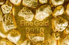 Oro fine Fotografia Stock Libera da Diritti