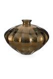 Oro a forma di Diamons Mercury Glass Bottle Vase immagine stock libera da diritti