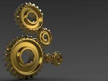 Oro gears.jpg Fotografía de archivo libre de regalías
