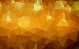 Oro geométrico abstracto y fondo abstracto blanco del vector para el uso en diseño Textura moderna del polígono libre illustration