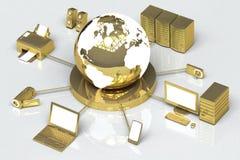 Oro global de los media libre illustration