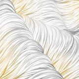 Oro grigio allineato Reticolo astratto senza giunte arte allineata disegnata a mano Fotografie Stock Libere da Diritti