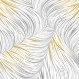 Oro grigio allineato Reticolo astratto senza giunte arte allineata disegnata a mano Fotografia Stock Libera da Diritti