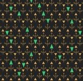 Oro inconsútil abstracto del modelo y gray1d43 oscuro Imágenes de archivo libres de regalías