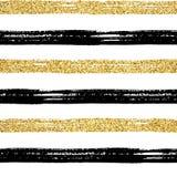 Oro inconsútil del modelo del movimiento del cepillo stock de ilustración
