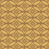 Oro japonés que coincide el modelo oval floral ilustración del vector