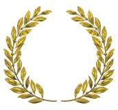 Oro Laurel Wreath ilustración del vector