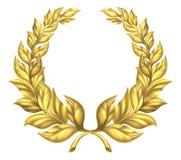 Oro Laurel Wreath Imagen de archivo libre de regalías