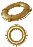 Oro lifebuoy Fotografía de archivo libre de regalías