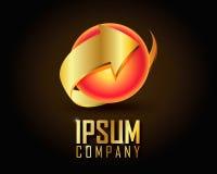 Oro Logo Vector Immagine Stock