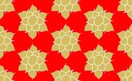 Oro Lotus Pattern Imagen de archivo libre de regalías