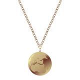 Oro lucidato necless Fotografia Stock