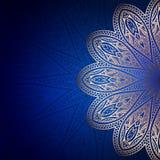 Oro Mandala Frame Imagen de archivo libre de regalías
