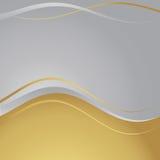 Oro/marco de plata Ilustración del Vector
